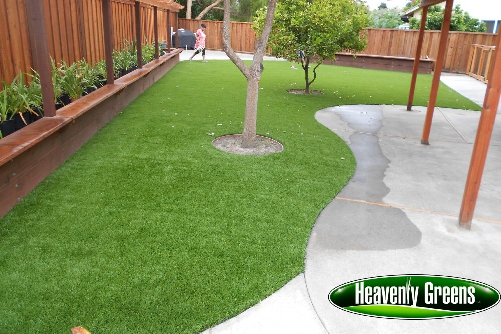 synthetic grass for backyard