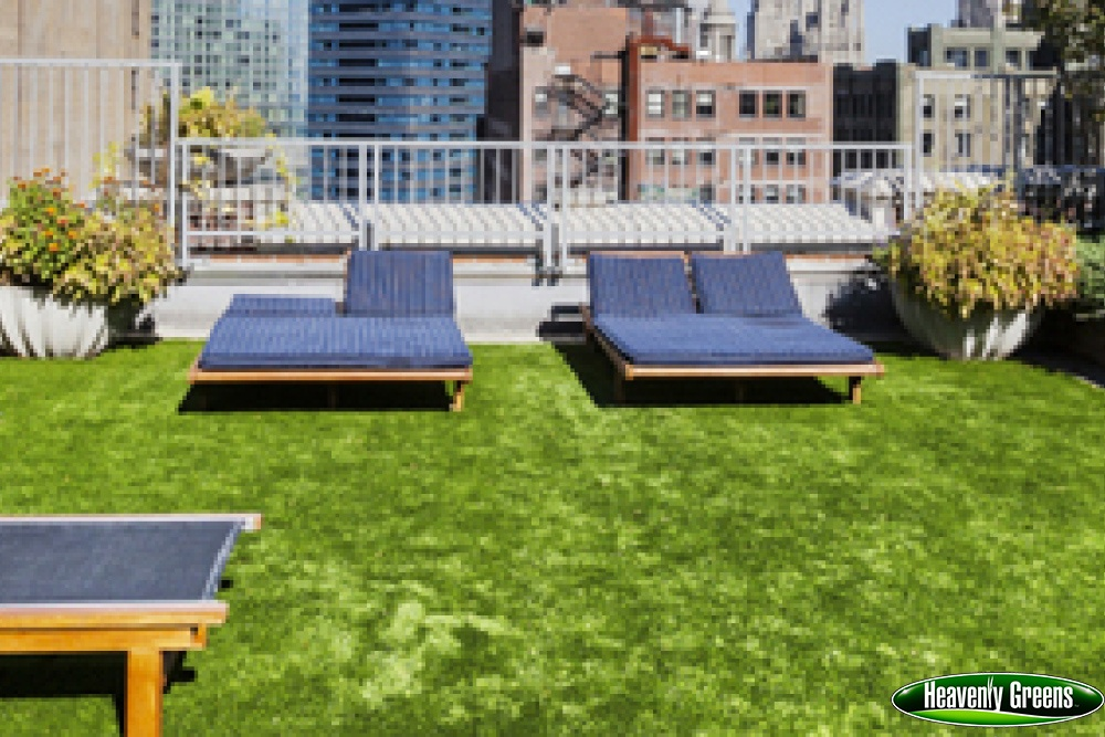 artificial grass on roof