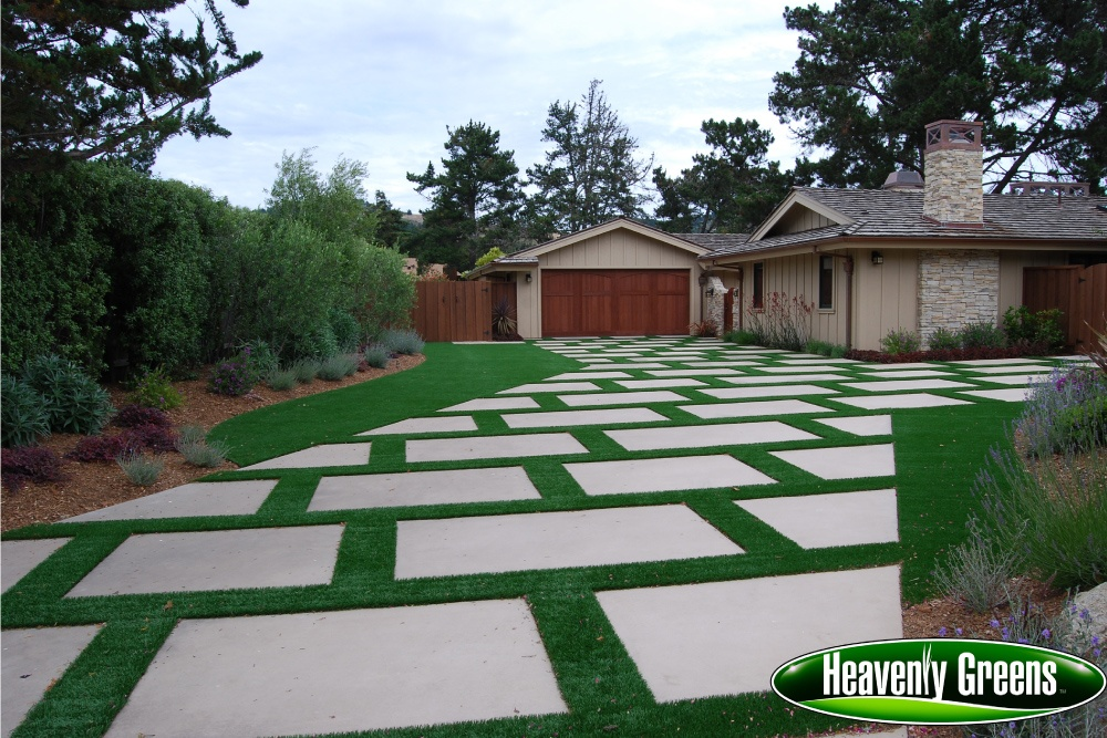 synthetic turf with unique design